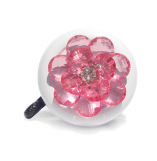 Pink Flower Bling Bike Bell