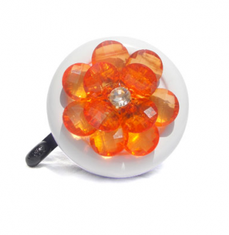 Orange Flower Bling Bike Bell