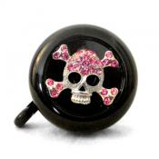 Pink Skull Blinged Bike Bell