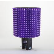 Purple Black Rhinestone Drink Holder
