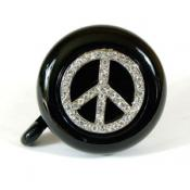 Black Peace Sign Bike Bell