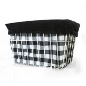 Black Gingham Basket Liner