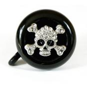 Silver Cute Skull Bicycle Bell