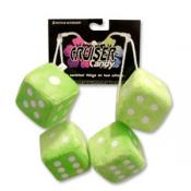 Fuzzy Dice Tassels -  Green