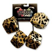 Fuzzy Dice Tassels - Leopard