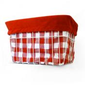 Red Gingham Basket Liner