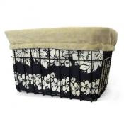 Black &amp; Tan Hibiscus Basket Liner