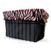 Pink Zebra Basket Liner