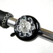 Clear Flower Bling Bike Bell(B)