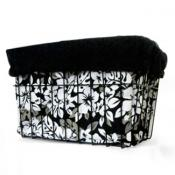 Black Hibiscus Basket Liner