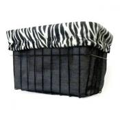 White Zebra Basket Liner